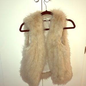 Blush Pink/Nude Feather Club Monaco Vest